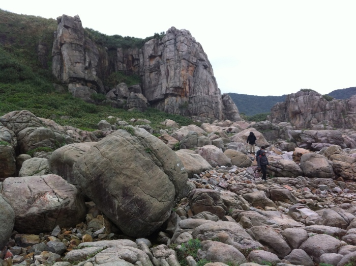 Rock Hopping with School gate at the back