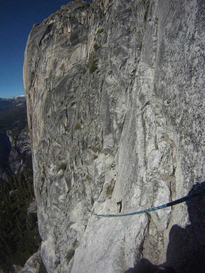 Climbing on Half Dome the Regular route