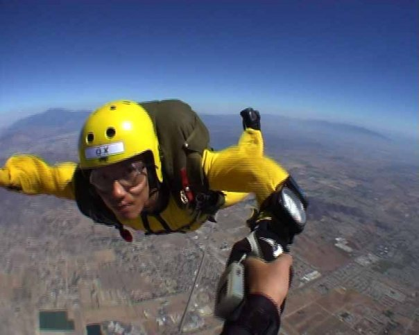 After i jumped out of the plane for the first time, I told my friend it felt better than sex!