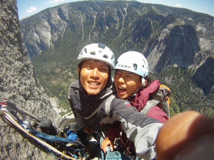 Getting to the top of El Cap was something i wanted to do. Climbing it with the person I love is a mega bonus