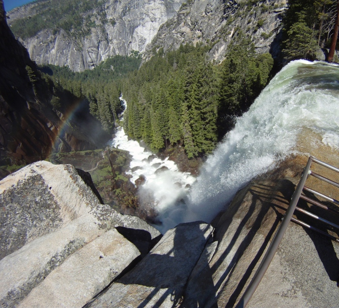 Looking down at Vernal falls inYosemite Valley!