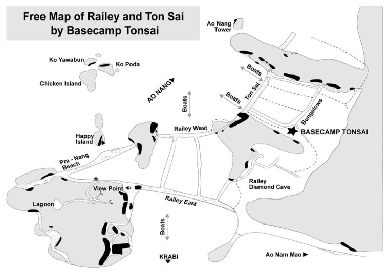 Map of Tonsai Basecamp