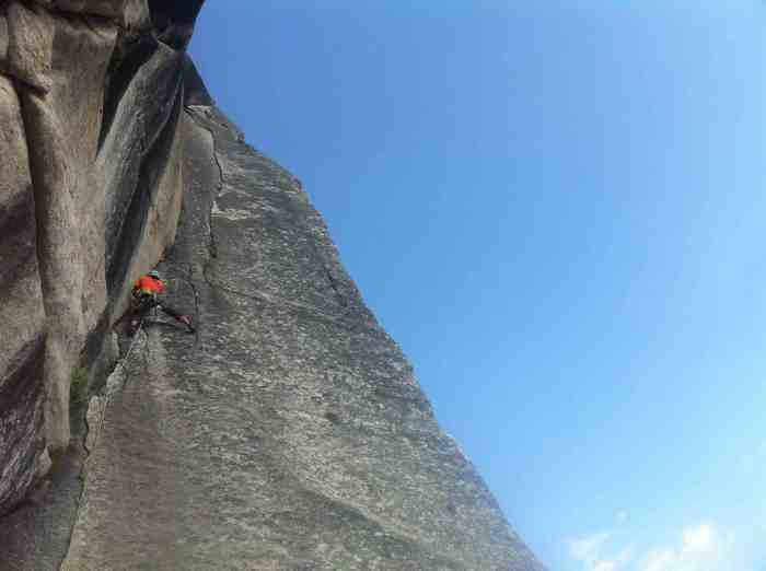 Pitch 2 entering the hand crack to the 10c finish