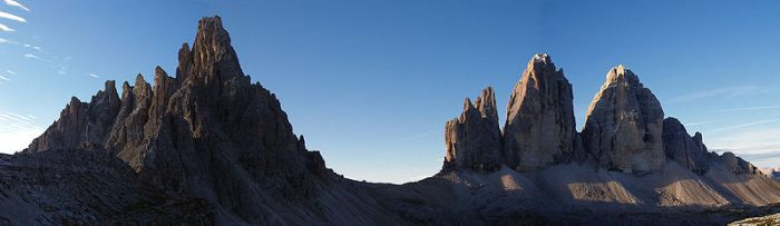 Tre Cime on the right