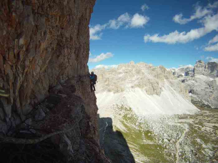 Kelly on the traverse