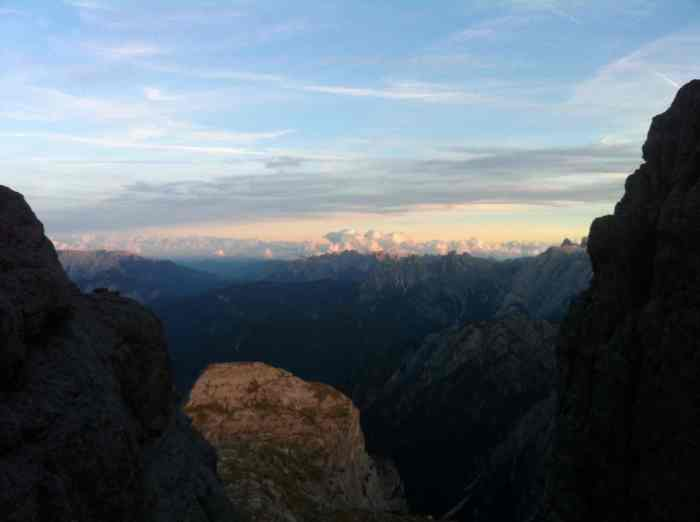 The sun setting on us as we crawled to the summit
