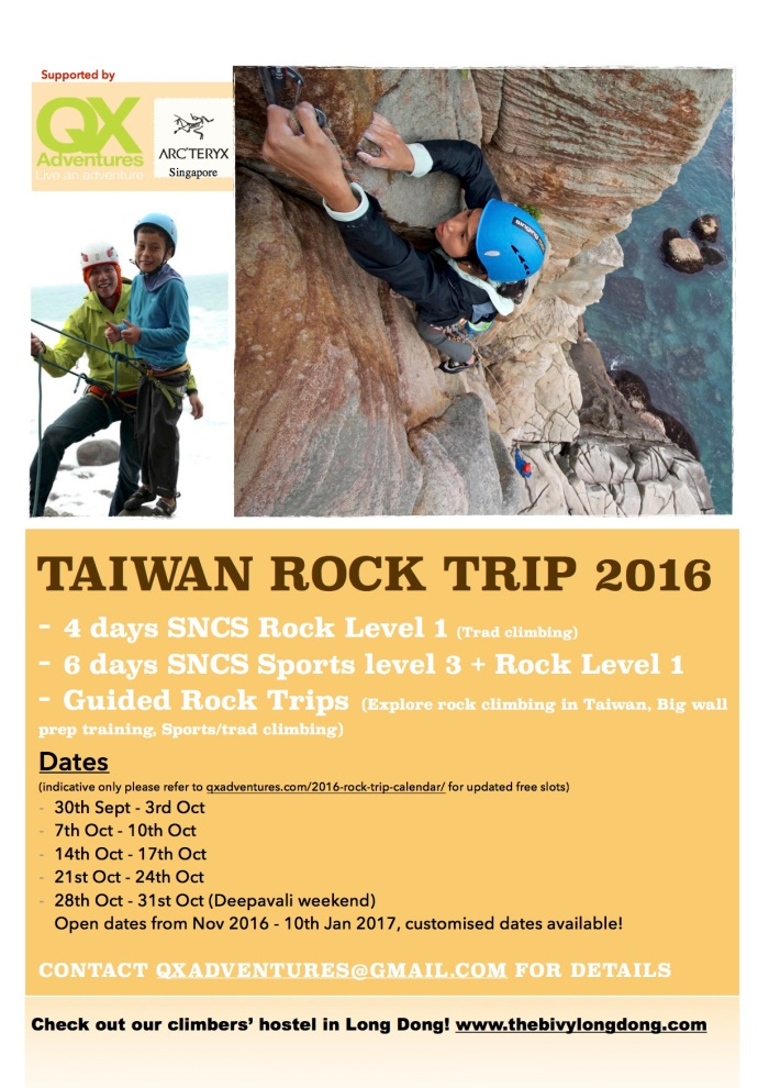 Taiwan Rock Trip 2016 Autumn Winter