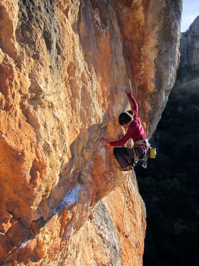 Kelly on staying on her feet at the crux of Culo De Herodes
