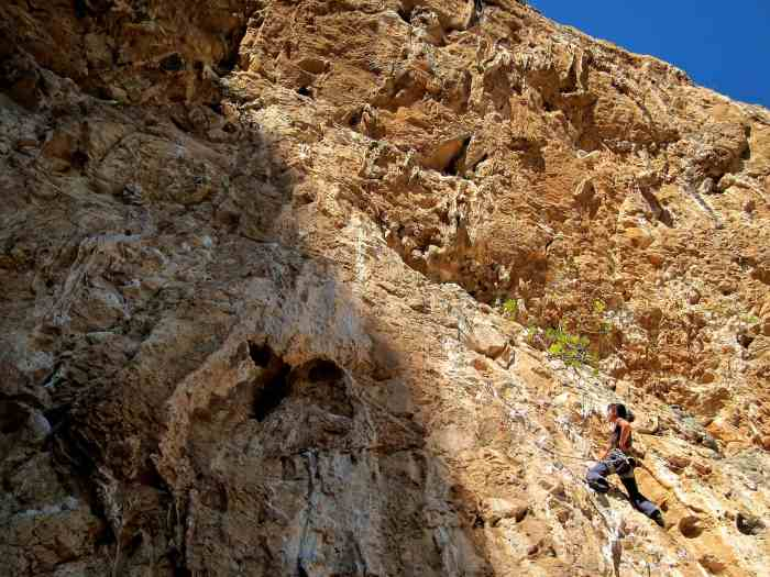 Poema De Roca is a huge cave with routes from 6b - 8c on huge overhangs