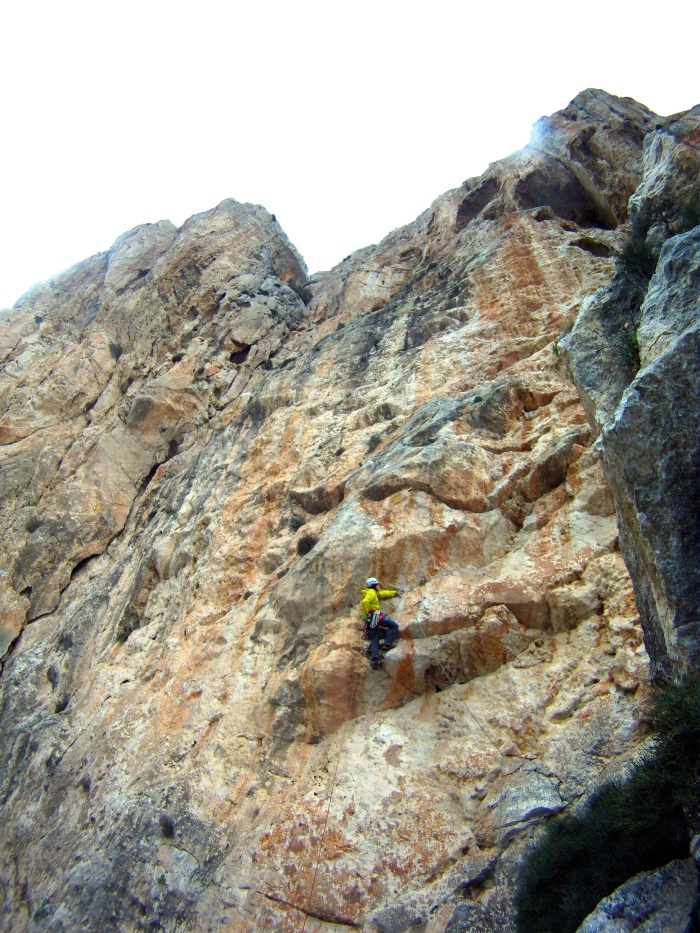 P4 of Coasta Blanca in rain jackets (Hybrid SL from Arcteryx)