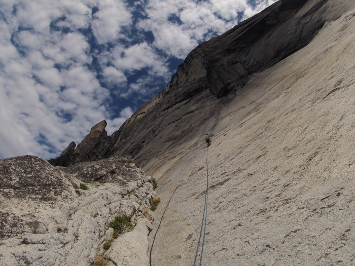 Fixed our ropes to Pitch 2
