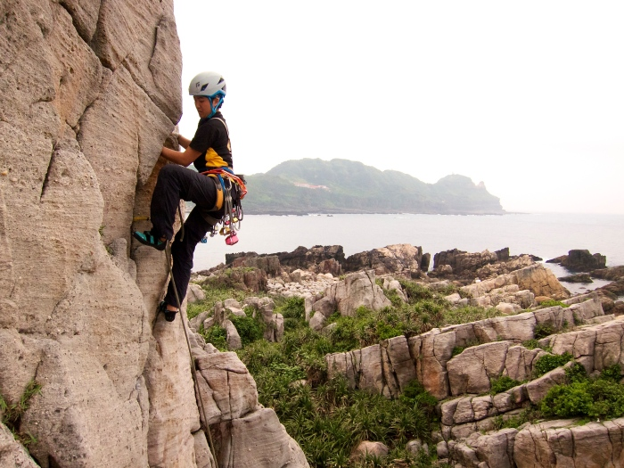 Jie Ling on Sea Crack 5.6 School gate sector