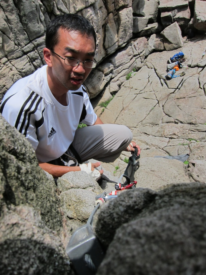 Sek Koon from KL on anchor building and learning how to get off a climb