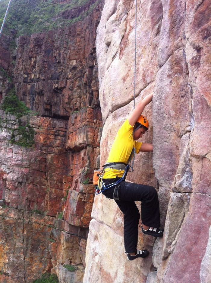 Those unfamiliar with the wide jamming technique will love this climb. Some scraps and bruise guaranteed!