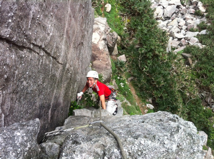 Elton on the access pitch of Via Del Drago