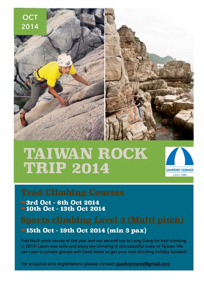 Taiwan Trad climbing 2014