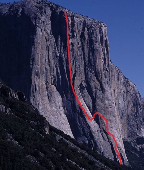 The route demarcated by the red line. (photo from Supertopo.com)