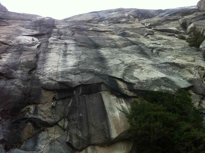 The descent off East Ledges