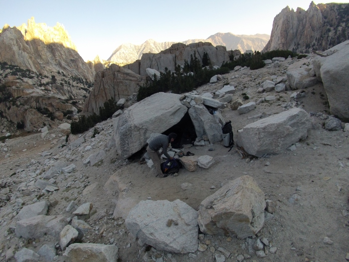 The bivy cave!