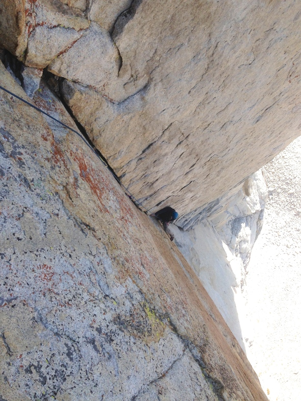 The cruiser sections after the crux of the route.