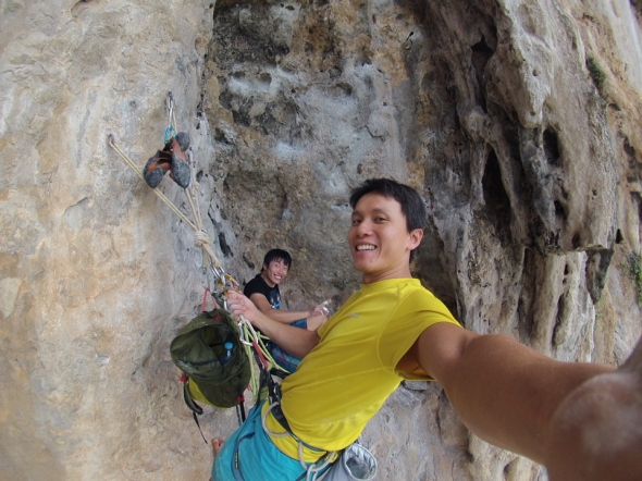 Rest after the crux!