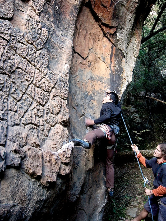 Spotted without a helmet in South Africa in 2009 climbing a unknown route with my friends from Bloemfountain