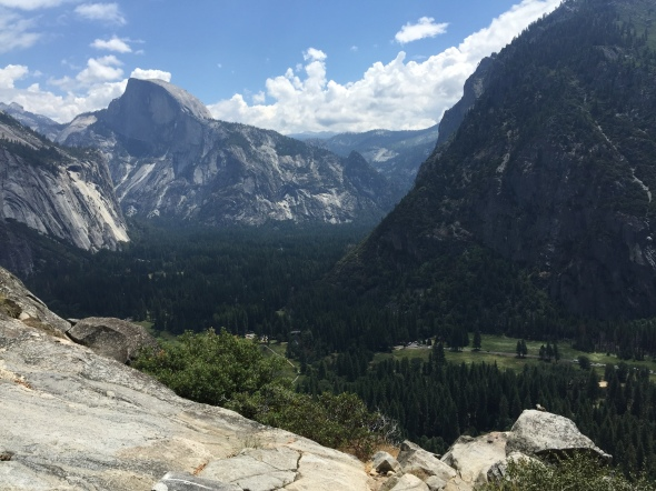 Beautiful view of Half Dome & the valley floor