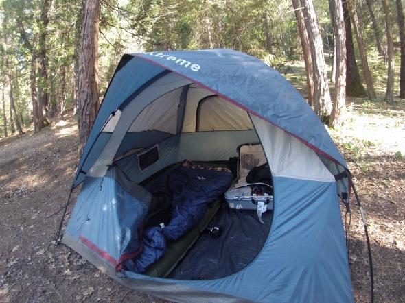 Bryan's cozy luxury tent camping