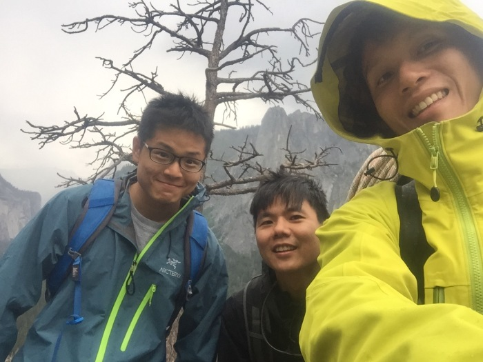 Getting to the top when rain starts pouring