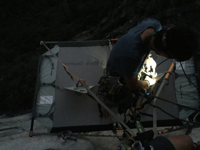 First time bringing a portaledge up the Captain