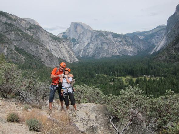Tom and Xueling on honeymoon climbs!