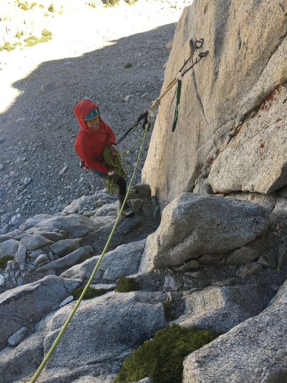 Belay duties on top of P2